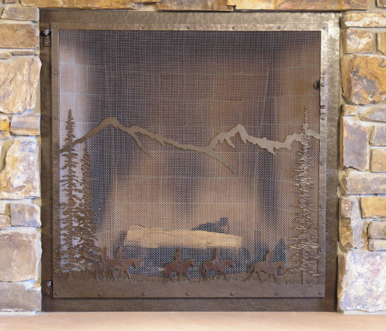 custom fireplace screens fire screens handcrafted by wiederrick 39 s