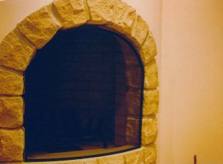 Curved Arch Free-Standing Fire Screen