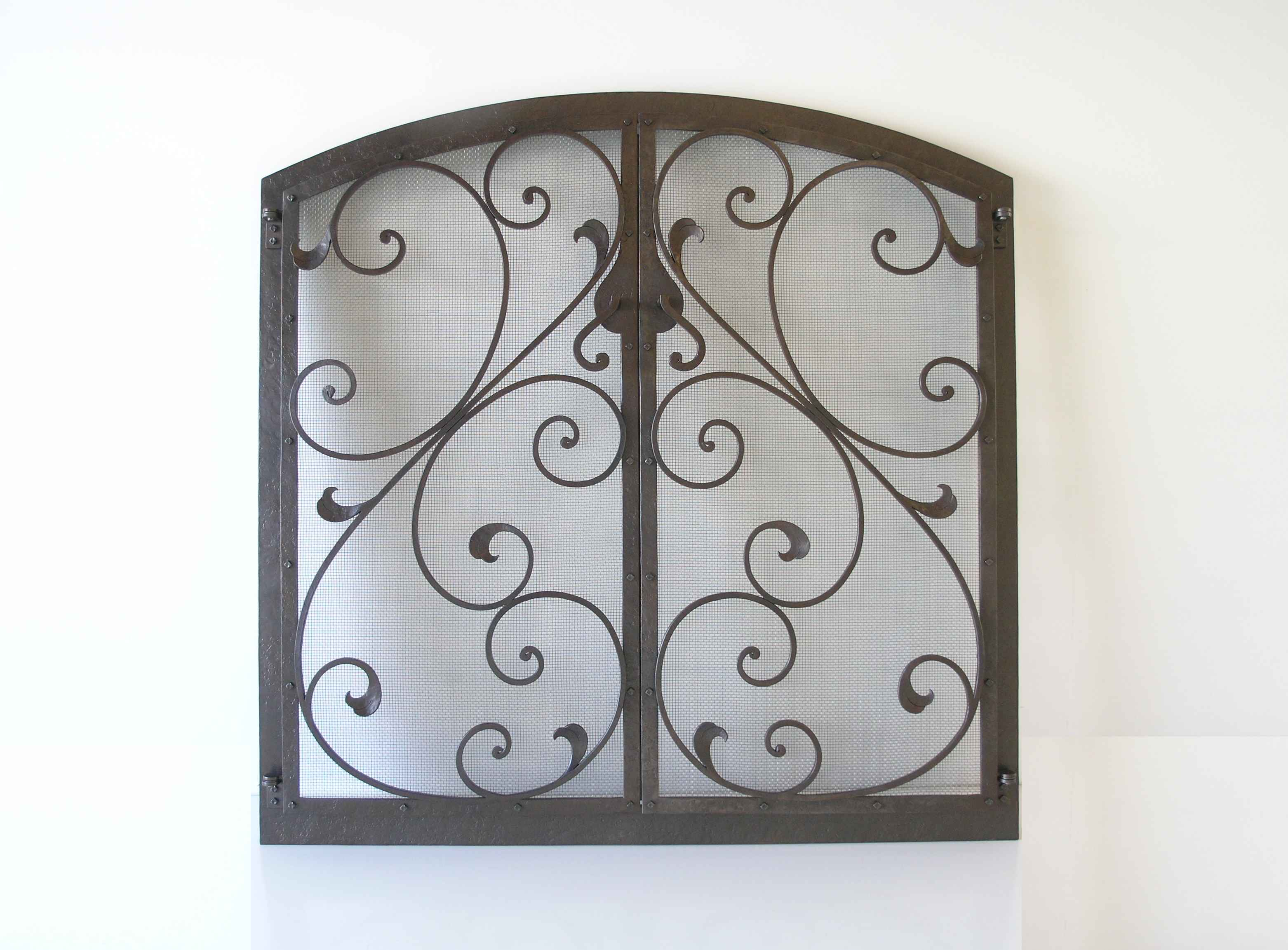 Elegant Scrolls Fire Screen