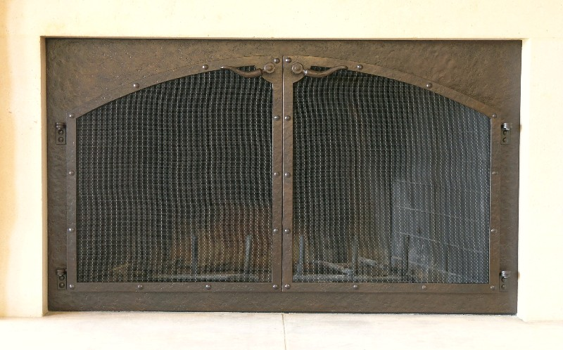 Flat Top Arch Door Fire Screen