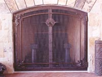 Rustic Corner Flourish Fire Screen