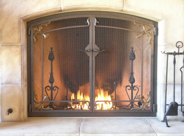 Custom Fireplace Screens Fire Screens Handcrafted By Wiederrick 39 S Custom Metalworks