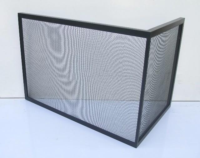Corner Free-Standing  Custom Fireplace Screen - Free-Standing Gallery