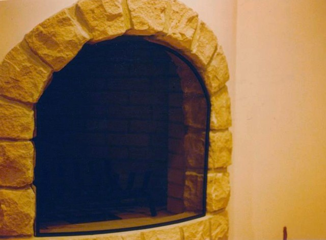 Curved Arch Free-Standing  Custom Fireplace Screen - Free-Standing Gallery
