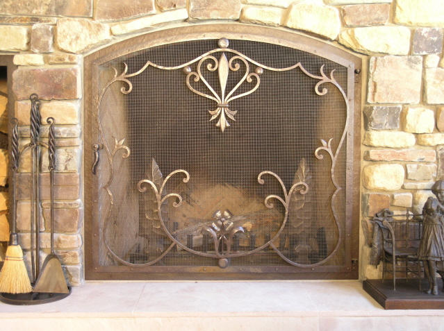 Custom Fireplace Screen ... - Custom Fireplace Screens, Fire Screens - Handcrafted By