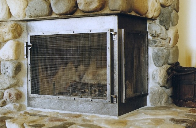 Custom Fireplace Screens Fire Screens Handcrafted By Wiederrick 39 S Custom Metalworks