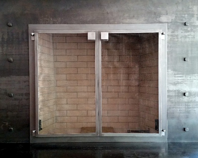 Mountain Modern Fire Screen