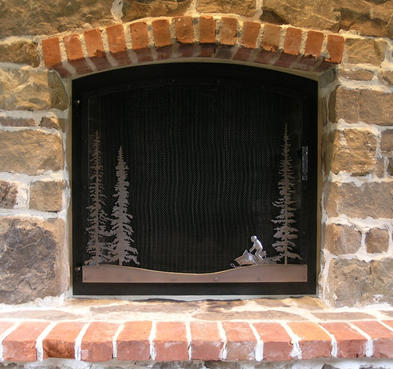 Snowmobiler Fire Screen
